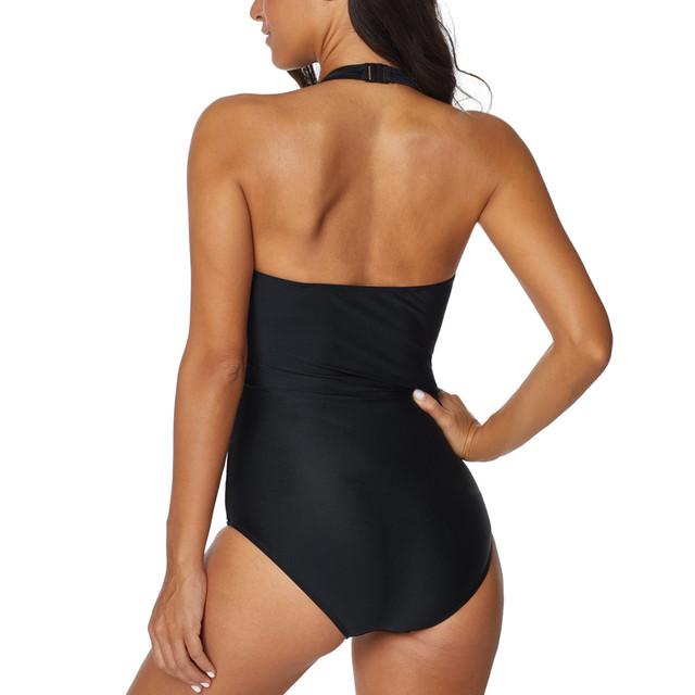 swimwear women 2019 swimwear women one piece swimsuits 2018 plus size XXL backless Hollow Striped black biquines plavky biquini