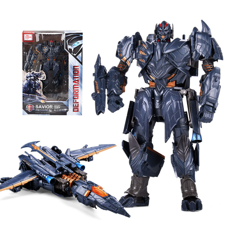 New H6001-2 PVC Transformation Figma Movie Anime Figure Model Transformer Deformable Robot Airplan Op Commander Megatron Boy Toy image