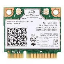 Carte Wifi sans fil double bande pour Intel AC7260 7260HMW ac Mini PCI E 2.4G/5 Ghz Wlan Bluetooth 4.0 carte Wifi 802.11 ac/a/b/g/n