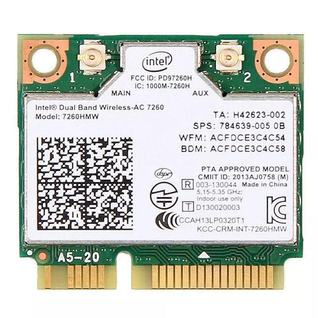 لاسلكي متعدد الموجات Wifi بطاقة ل إنتل AC7260 7260HMW ac البسيطة PCI E 2.4G/5 Ghz Wlan بلوتوث 4.0 Wifi بطاقة 802.11 ac/a/b/g/n