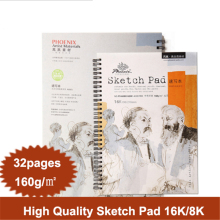 купить 8K/16K 32 Sheets Watercolor Paper Sketch Book Set Watercolor Drawing Painting Pad Colored Pencil Book School Student Art Supply по цене 844.75 рублей