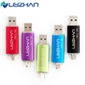 LEIZHAN Five Colors OTG USB Flash Drive 2.0 64g 32g 16g 8g 4g Computer Memory USB Drive Smart Phone OTG USB Stick Pen Drive