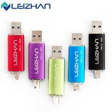 LEIZHAN Five Colors OTG USB Stick 2.0 64g 32g 16g 8g 4g Computer Memory USB Drive Smart Phone OTG USB Flash Drive Pen Drive