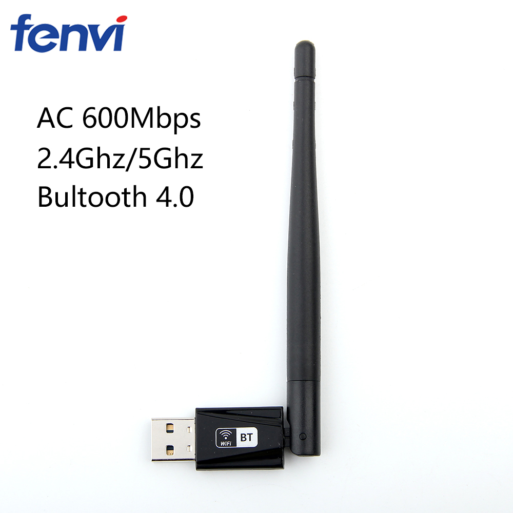 Dual Band 600Mbps Wireless USB Realtek RTL8821CU Wifi Adapter Bluetooth 4.0 2.4G/5Ghz Network Card With Antenna for Desktop PC