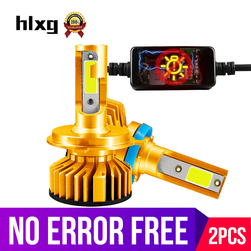 Hlxg Mini H1 H3 H11 H8 HB3 HB4 H4 H7 LED Canbus Auto Automobile Car Headlight Bulbs No Error 50W 10000LM 6000K 4300K 8000K 12V