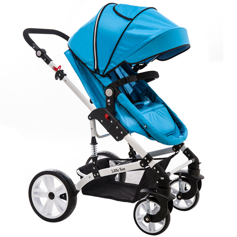 Baby Stroller Can Sit And Lie The High Landscape Four Wheel Shock Proof Ultra Wide Two-way Baby Cart And General Umbrella Carts high landscape suspension stroller four wheel two way light folding sit lie baby cart
