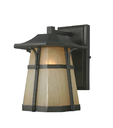 American country rustic outdoor waterproof light fixture glass balcony wall sconce