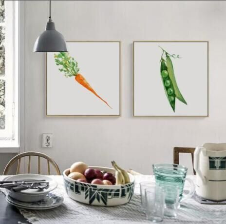 Modern Simple Fruits And Vegetables Canvas Painting Wall Art Print Painting Decorative  Wall Pictures Kitchen Decor No Frame In Painting U0026 Calligraphy From ...
