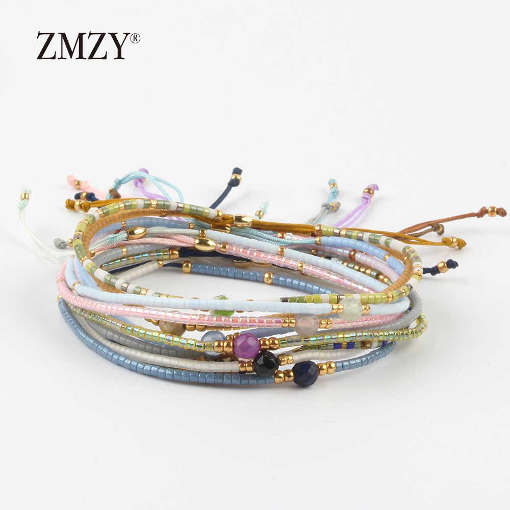 ZMZY みゆきデリカシードビーズ女性ブレスレット友情の宝石ファッション Diy ビジューファムシンプルなブレスレットドロップ無料
