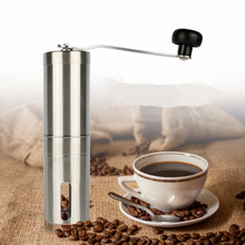 Coffee Grinder Stainless Steel Silver Hand Manual Handmade Coffee Bean Grinder Mill Kitchen Grinding Tool 30g