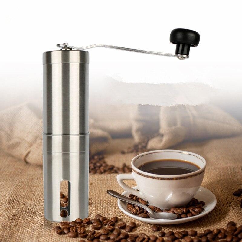 YIJIE Acero Inoxidable Molinillo de Café Manual de la Mano de Plata Hecho A Mano del Grano de Café Grinder Molino Triturador De Cocina Herramienta 30g