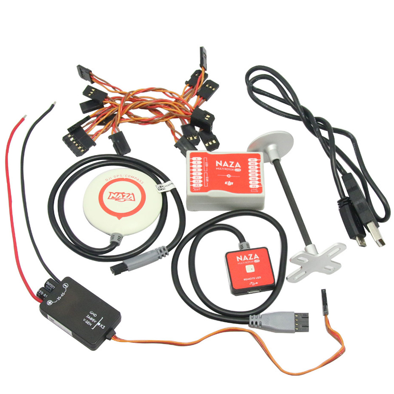 1set Naza-M Lite Multi-rotor Flight Control System with GPS Compass BEC LED Module original naza gps for naza m v2 flight controller with antenna stand holder free shipping