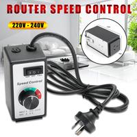 220V 240V 8A Router Speed Control Variable Controller Motor AC Rheostat Tool For Lighting Fans Power Tools