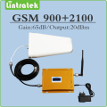 gsm 3g repeater  900mhz  2100mhz  2g 3g  EDGE/ HSPA Dual Band Signal Amplifier UMTS GSM WCDMA mobile signal booster full set