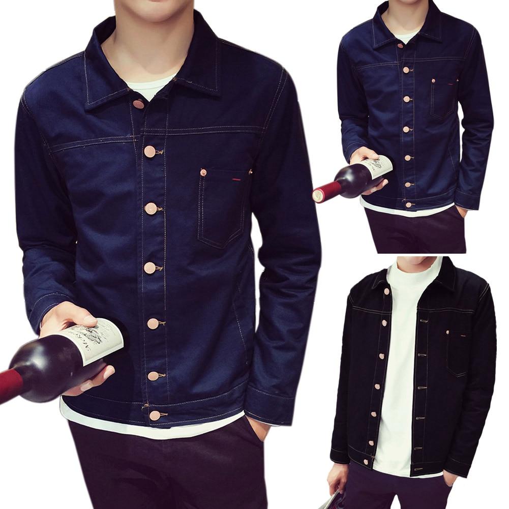 Luxury Autumn Men Jacket Long Sleeve Comfortable Jean Tide Denim Coat Fashion Korean Casual Chaqueta Fit Hombre Male Clothes LB