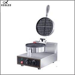 XEOLEO Single plate waffle make machine 220V Electric Crisp Ice Cream Cone Making Machine Waffle Maker for Ice Cream Cone 1250W