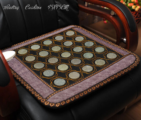 Natural jade sofa massage cushion Russia free shipping electric massage cushion heating germanium mattress 45*45CM цены