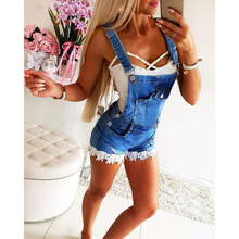 Short Jumpsuits Dungarees Overalls Women Streetwear Denim Pants Ladies Rompers Casual