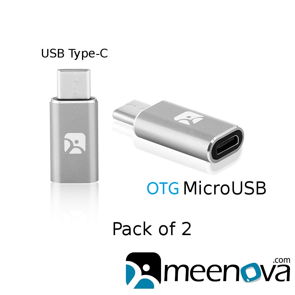 USB Type C to MicroUSB Female OTG Adapter for Samsung S9 S8 Plus Note Pixel Macbook