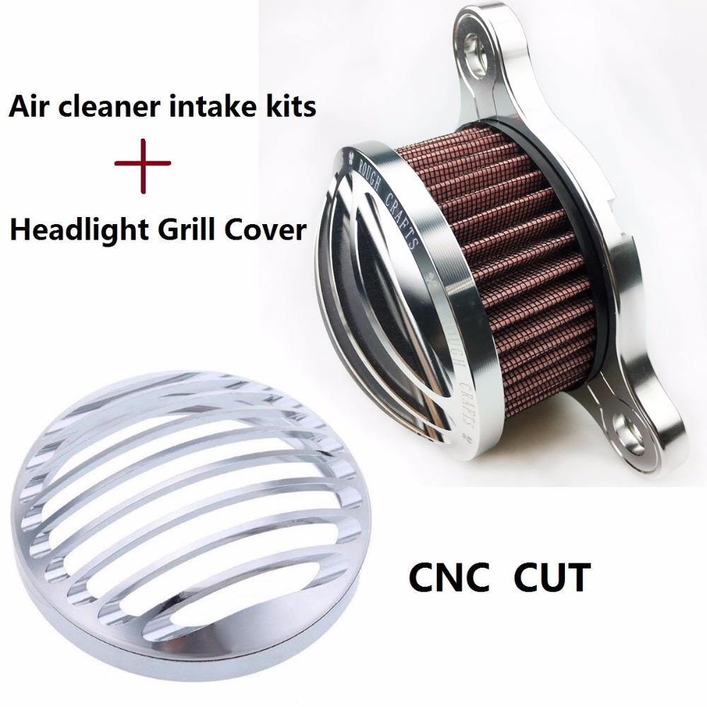 ФОТО Motorcycle CHROME Headlight Cover / Air Cleaner Intake For Harley Sportster 883 1200 04-14