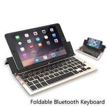 Intelligent Pocket Folding font b Keyboard b font Aluminum Bluetooth Foldable Universal Wireless Travel Keypad for