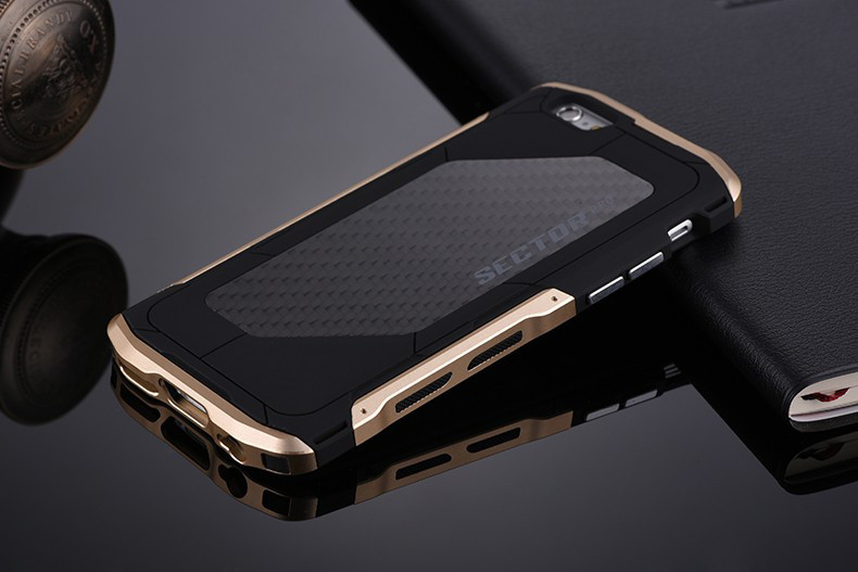 new concept 597d1 2e45c US $19.9  Ultra thin Metal Case For iPhone 6 6s Plus 7 8plus Sector PRO Men  Cool Cover For iPhone X 10 Cell Phone Case Aluminum Carbon-in Fitted Cases  ...
