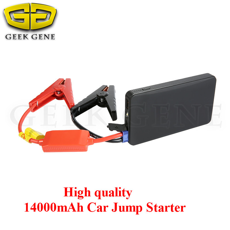 High power 14000mAh Mini Car Jump Starter Multi function AUTO Emergency Start Power Bank Engine Booster