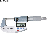 SHAHE IP65 digital micrometer 0.001 mm electronic digital outside micrometer 0 25 mm