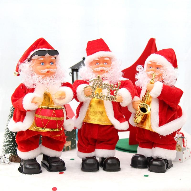 Neue Ankunft Vater Weihnachten Weihnachtsmann Tanzen Singen Song ...