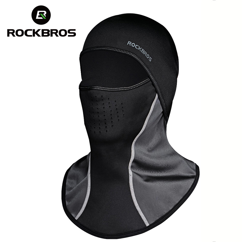 ROCKBROS Men's Bicycle Face Masks Winter Balaclava Cap Thermal Fleece Scarf Shield Outdoor Motorcycle Ski Bike Cycling Face Mask thermal fleece balaclava ski hat hood bike wind stopper face mask new caps neck warmer winter fleece motorcycle neck helmet cap