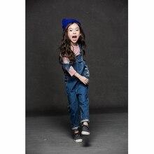 Малыш Джинсы Комбинезоны Девушки джинсовые брючные мальчик Мода длинные Комбинезон детские брюки одежда