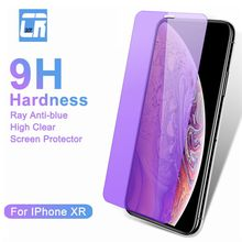 9H Anti-blue Ray High Clear Screen Protector Film for iPhone XR XS Max Full Cover Tempered Glass for iPhone X 6s 7 8 Plus Glass nillkin amazing pe 9h anti blue ray eyes care anti burst tempered glass screen film for iphone 6s plus 6 plus 5 5 inch