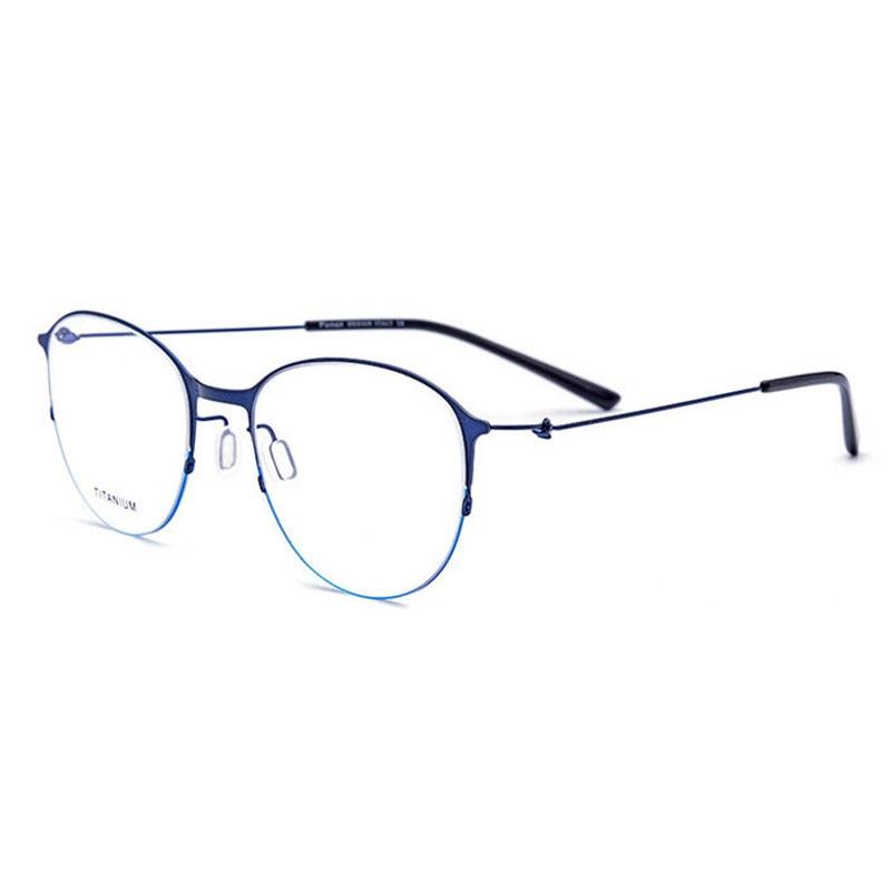 JQ28612 Titanium Alloy Full Rim Eyeglasses Frame Square Shape Fashion Brand Prescription Glasses Spectacles Eyewear for Women in Women 39 s Eyewear Frames from Apparel Accessories