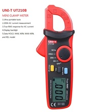 UNI-T UT210B Current Clamp True RMS 200A Mini AC Clamp Meters Ammeter W/ NCV Handheld Multimetro Clamp Meter Multimeter update clamp meters em2015c full protection clip on multimeter 600a ac