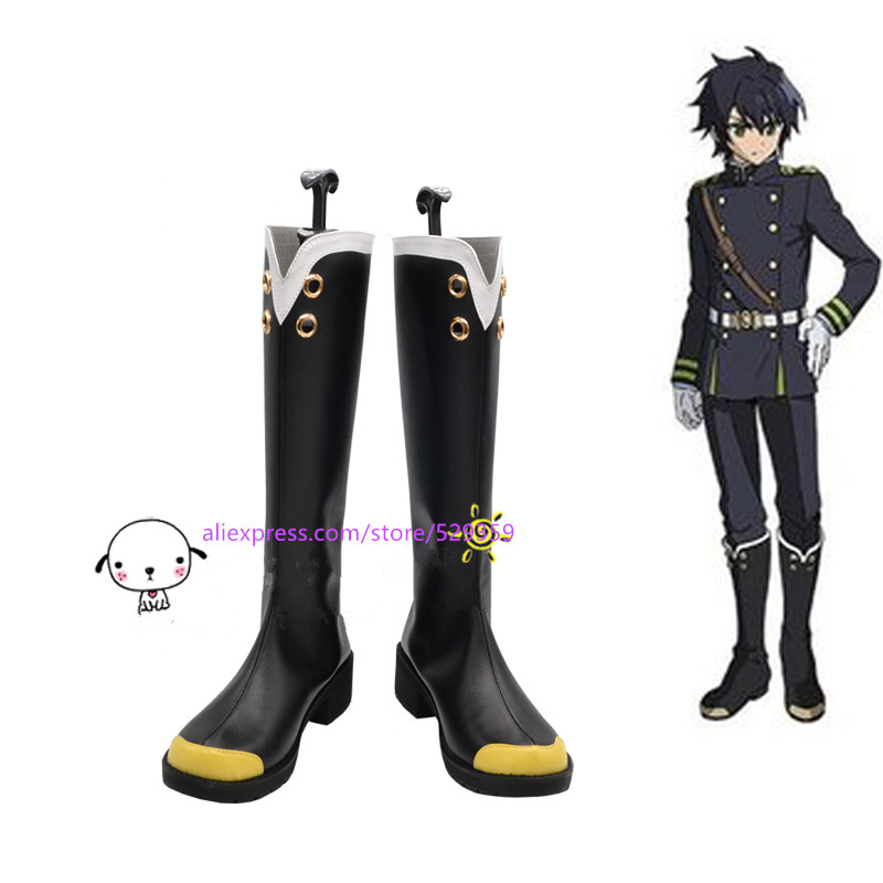 Seraph of the End Yuichiro Hyakuya Owari no Seraph Cosplay Boots Shoes custom-made