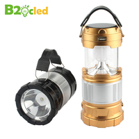 GY34 Stretch Camping Lamp Multi Function Mobile Power Built In Rechargeable Battery Solar Outdoor Portable Flashlight