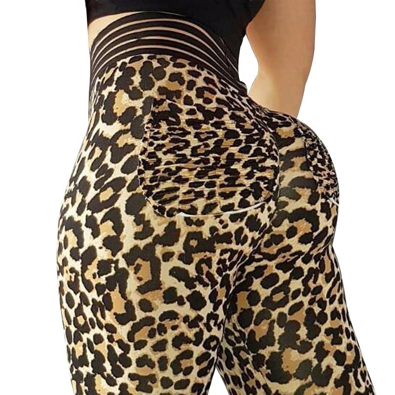 Sexy Leopard Women Leggins Push Up Workout   Legging   Femme High Waist Leopard   Leggings   Elastic Sportswear Leggins 3Color
