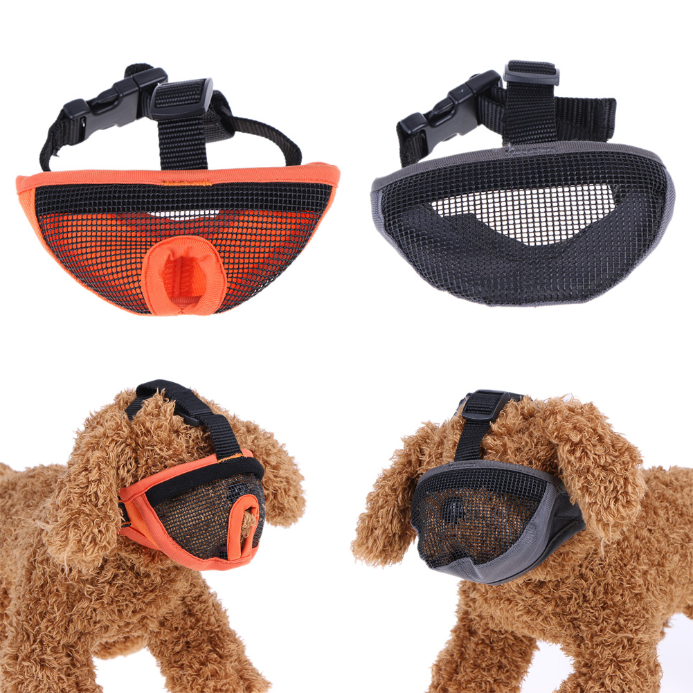 Dogs Mask Muzzles Anti Barking Anti Bite Nylon Gauze Mask Dog Supplies Accessories for Short Nasal Dog S M L XL