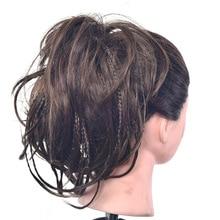 Delice, резинка для волос, шиньон, кудрявые резинки для волос с маленькими плетеными эластичными булочками, темно-коричневый синтетический обруч на волосы, булочки