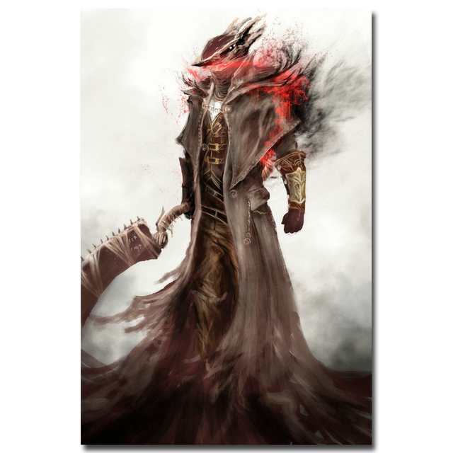Шелковый Плакат Гобелен Игра Bloodborne Вариант 10
