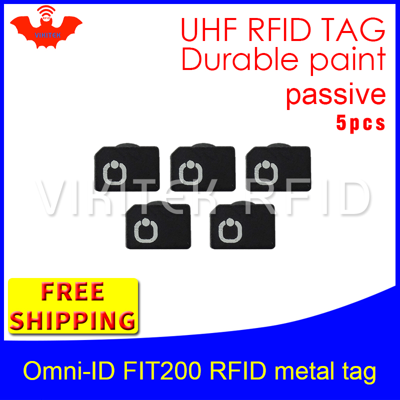 где купить UHF RFID metal tag omni-ID fit200 915mhz 868mhz Alien Higgs3 EPC 5pcs free shipping durable paint smart card passive RFID tags по лучшей цене