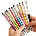 20 color Creative Crystal Pen Stationery Ballpoint Pens for Office & School Pen Stylus Touch Pen Diamond kawai Novelty Ballpen
