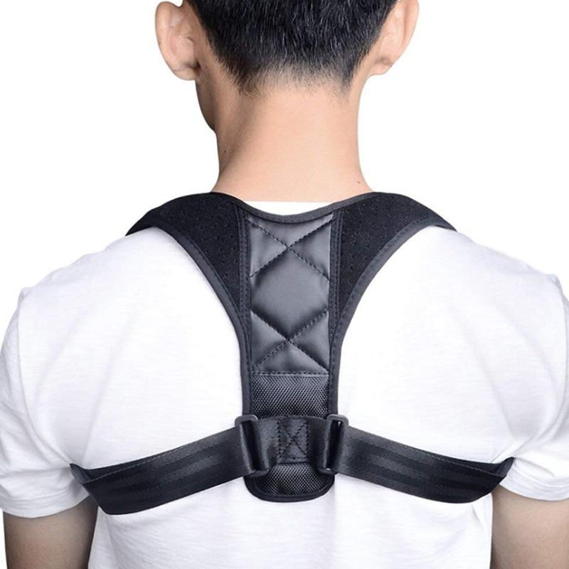 все цены на Adjustable Back Posture Corrector Clavicle Spine Back Shoulder Lumbar Brace Support Belt Posture Correction Prevents Slouching онлайн