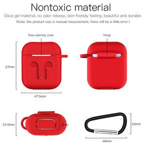 Image 5 - Soft Silicone Case For Airpods For Air Pods Shockproof Earphone Protective Cover Waterproof for iphone 7 8 Headset Accessories