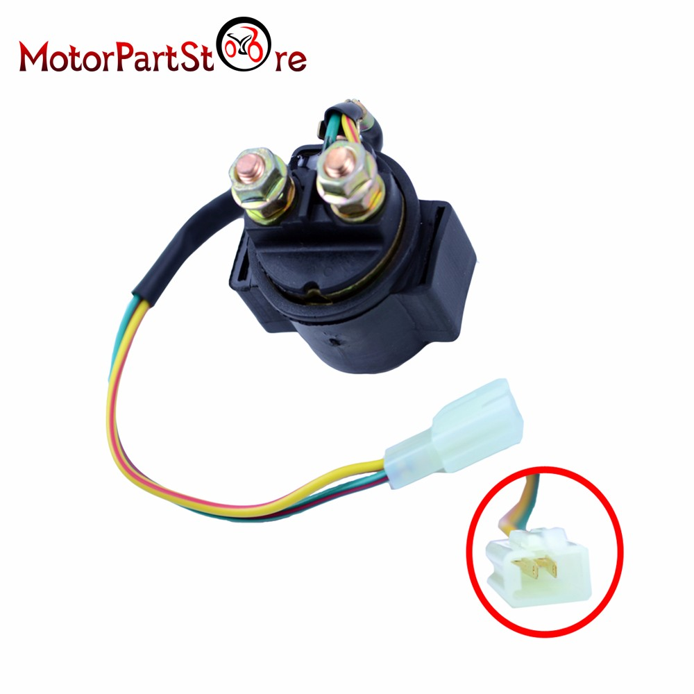 STARTER RELAY SOLENOID QUAD MOTORBIKE PITBIKE UNIVERSAL 12  VOLT AS PICTURED