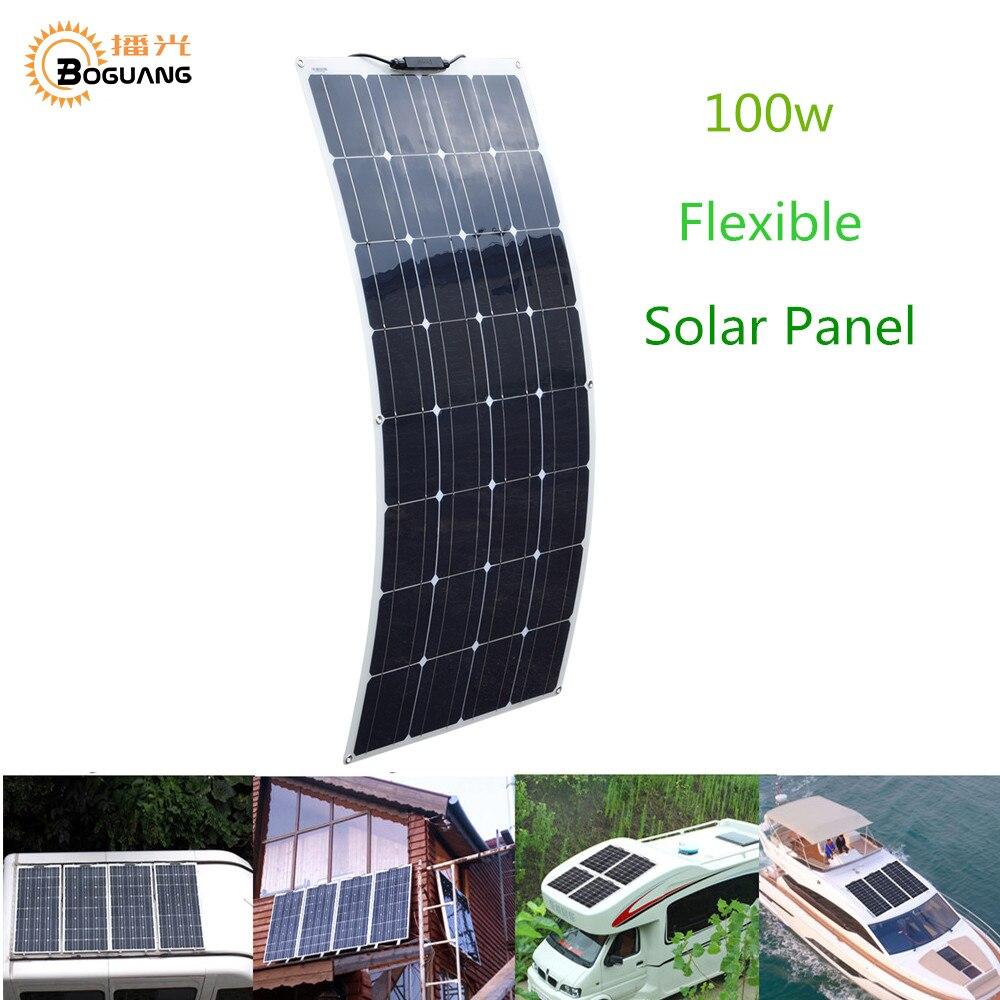 BOGUANG Flexible Solar Panel 16V 100W plate CELLS Monocrystalline silicon Photovoltaic Panels 200w 400w 600w 800w 1000w chinaBOGUANG Flexible Solar Panel 16V 100W plate CELLS Monocrystalline silicon Photovoltaic Panels 200w 400w 600w 800w 1000w china