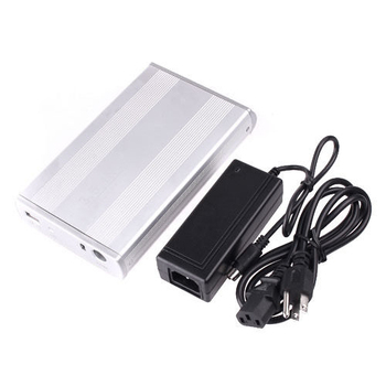 Silver 3.5 Inches USB 2.0 IDE Hard-disk HDD Enclosure Cartridge Case
