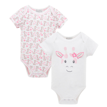 Kavkas 2pcs/lot Newborn Baby Romper Baby Jumpsuit Summer Short Sleeve Baby Costume Cotton Infant Girl For Next Baby Body Clothes