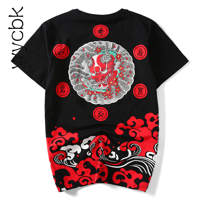 Estate maglietta Degli Uomini di Modo Fantasma Fortunato Little Devil  Stampa Cotone Hip Hop Baseball T-Shirt in Jersey Uomo taglia M-4XL 4d9f0f2a7bb5