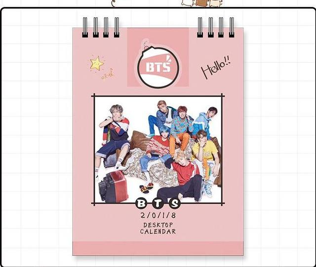 k pop kpop bts bangtan boys album 2018 desk calendar desktop office desk supplies school